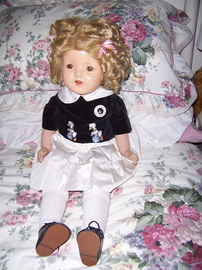 Shirley Temple Type Composition Vintage Doll