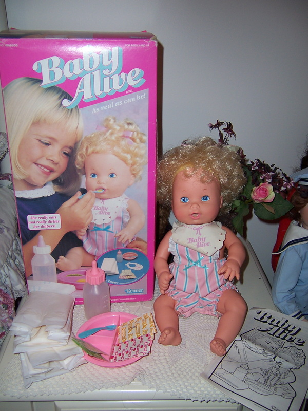 Kenner Doll Baby Alive 1990 Original Box Dollysisters