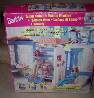 Barbie ken fashion dolls dollhouse swimming pool original boxes dollysisters down memory lane for Barbie doll house with swimming pool